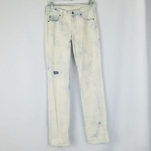 Madewell women 26x34 acid wash straight leg jeans